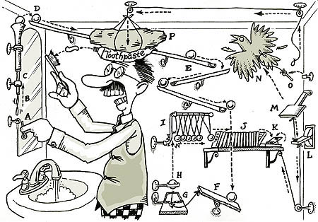Don't make your schedule as complicated as a rube goldberg machine