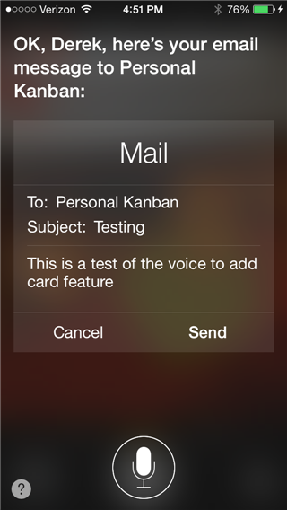 With Siri, just say send email
