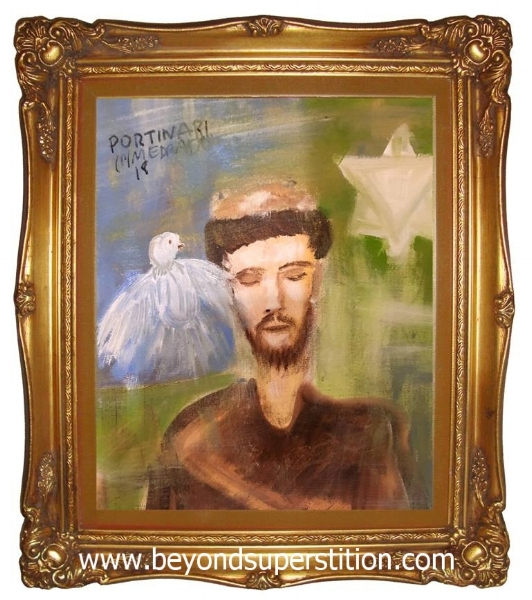 I also won this painting (above) during the auction and donated the piece to the  Victorian Spiritualist Union  to thank them for graciously giving us access to their sacred space for the Jose Medrado demonstrations.