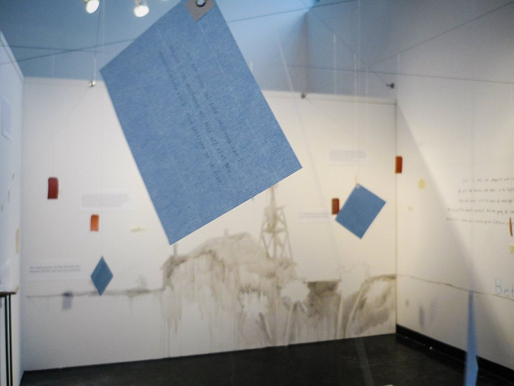 A Close Read: My Ántonia   (2010)   Installation   50 × 50 ft.  Mixed media  Feldenheimer Gallery, Reed College, Portland, OR