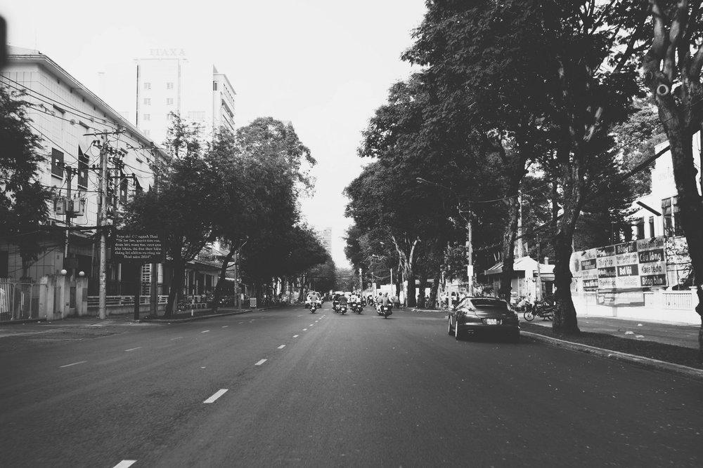 Con đường đến trường ngày xưa.