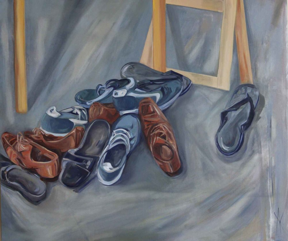 TITLE:  Considered steps  MEDIUM: Oil on linen DIMENSIONS: H100 x W120cm