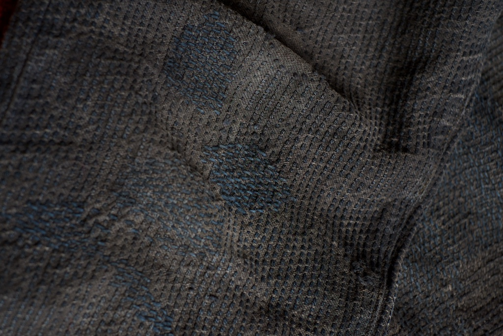 Knee repair indigo sashiko Black Century Denim