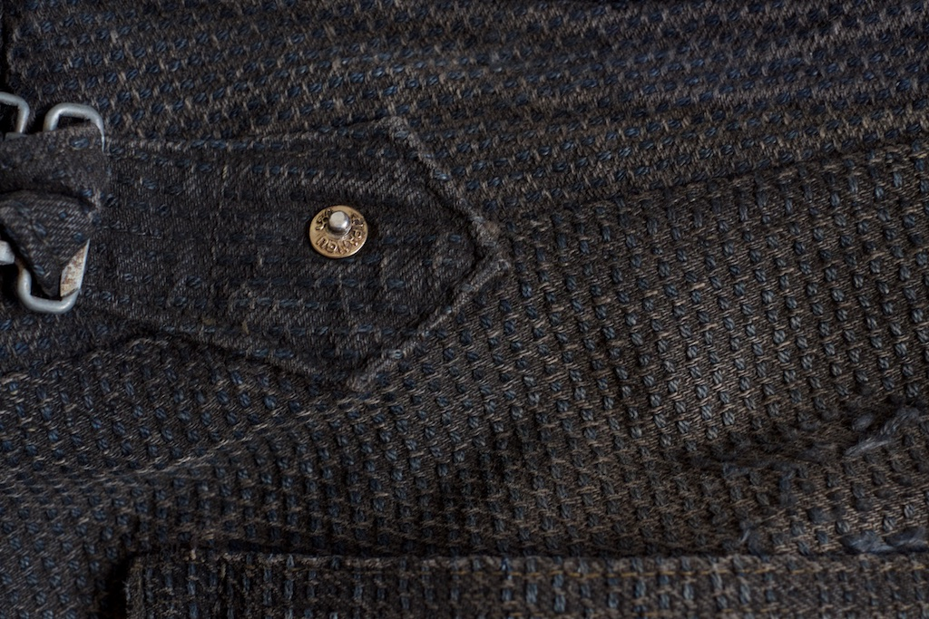 Gold Rivet Black Century Denim