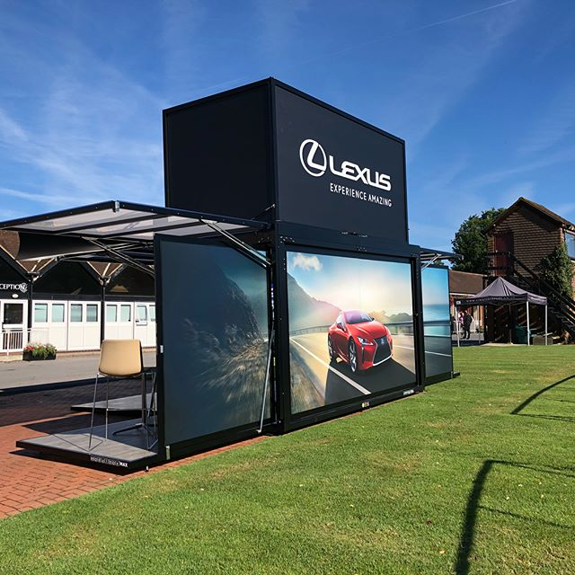 Our latest project for @mslglobalevents and @lexusuk went live today under clear blue skies and in a perfect environment #eventprofs #modulbox #portablearchitecture #mosysteme #liveevents #eventprofs #events