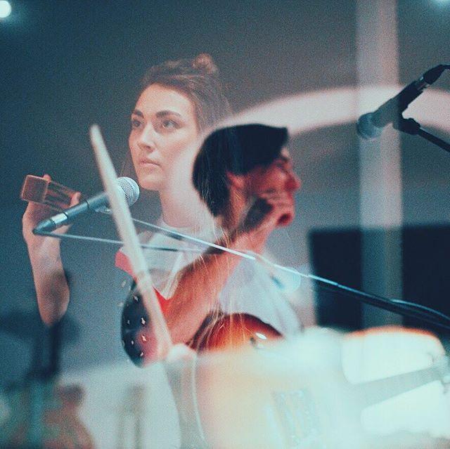 Studio-Double-Exposure!  Intense tinkering on new stuff 💪🏼 📸 by our very talented photographer @filistothy ❤ • • • #doubleexposure #analog #studio #analogphotography #canon #analogcanon #studiorecordings #studiorecordingsession #recording #musicrecording #musicstudio #hofner #hofnerguitars #schlagwerk #percussions #drumgirl #duoband #drummingwoman #girldrummer #girlswhodrum #girlsondrums #caricari #caricarimusic #shuresm58