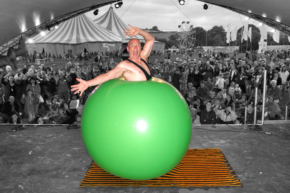 Bruce Airhead, performing on Saturday 7 July at the Hexham Launch of Great Northumberland