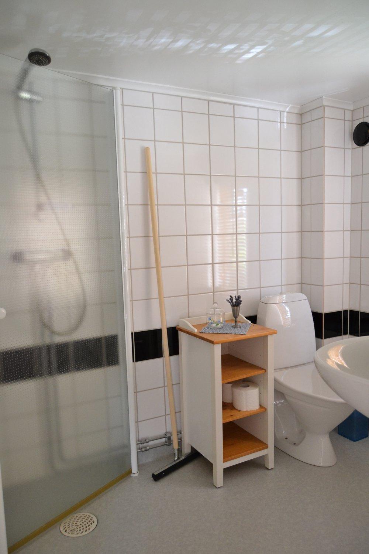 Toalett & dusch - Litet men naggande gott dusch och toalett rum.