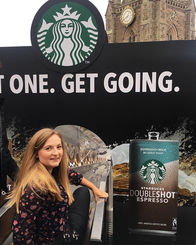 Happy Wednesday!  I'm spending mine at the @StarbucksUK pop-up at Birmingham Bullring this afternoon ☕️ It's here until tomorrow, so be sure to head down and get a free Starbucks Doubleshot drink 👌🏻 You'll also get the chance to ride on the Doubleshot slide, if you're feeling daring... #ad