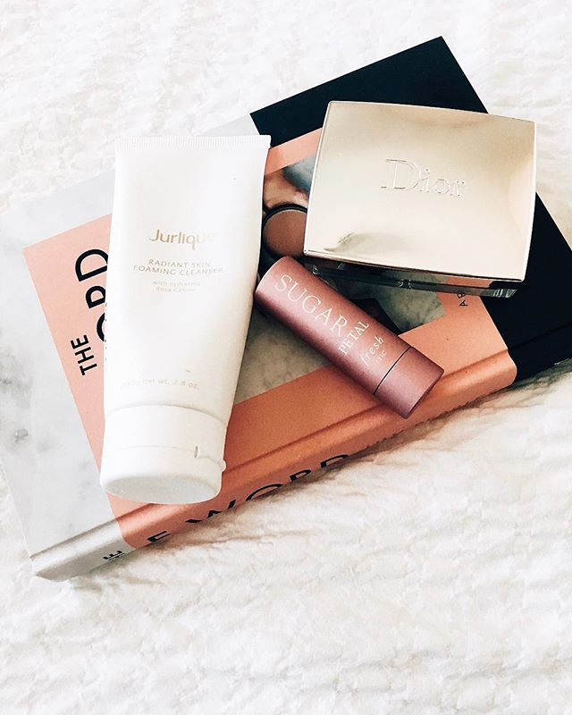 "Just a few of my favourite things 💫 the most amazing foaming radiance cleanser from @jurlique it has such a rich velvety texture on the skin and is the perfect morning cleanse 🌸 this rosy glow blush from @diormakeup which over my holiday tan gives the most beautiful colour to my cheeks and is so so natural looking 🌹and lastly my new favourite lip product from @freshbeauty this sugar balm in petal is my perfect ""my lips but better"" colour and the hydration is like nothing I've tried before, definitely going to be reaching for this as the weather gets colder! Anyone else excited for autumn?🍁🎃 #newblogpost #bloglife #asseenonme #picoftheday #brumbloggers #calledtobecreative #dowhatyoulove #exploretocreate #liveauthentic ##lifestylebloggers #dailyblogger #travel #theartofslowliving #exploremore #livethelittlethings  #flashesofdelight #nothingisordinary"