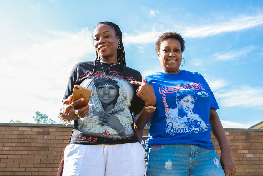 Aretha Franklin Fans and their T-Shirts