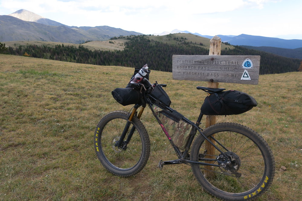 Spank My Brass on the Monarch Crest Trail, Fooses Creek intersection during our Colorado Trail thru bike