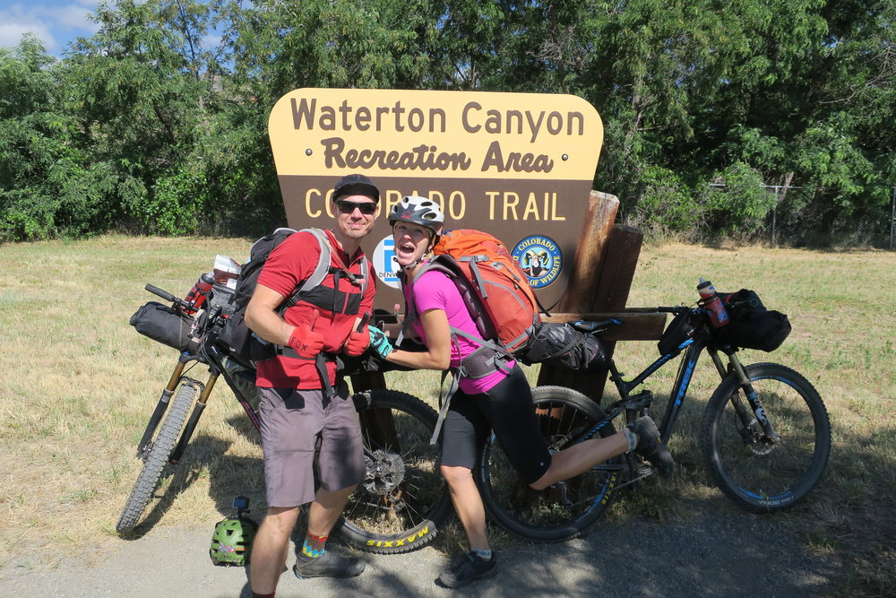Beth and me at Waterton Canyon, official start of the CT