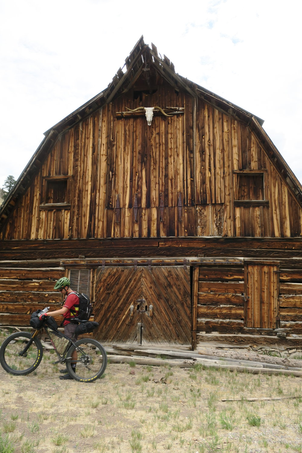 Cool barn near Cathedral, CO on the La Garita Wilderness detour