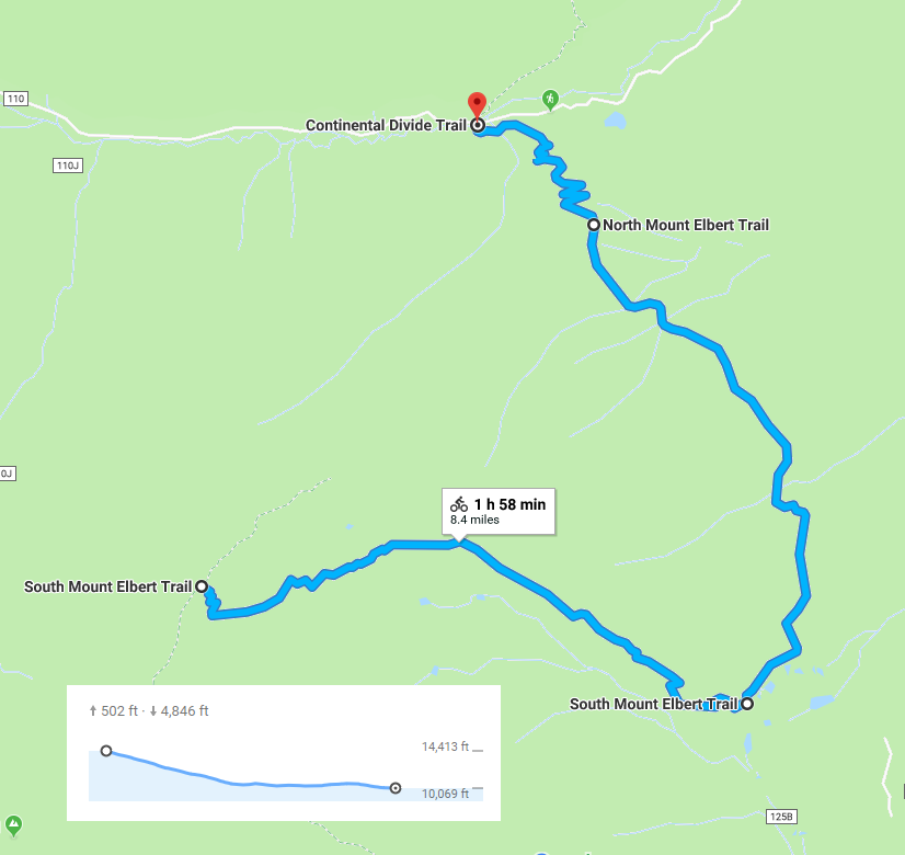 This is the out and back route I'd recommend. It offers the best chance for the most riding. Not that this map only shows the way up, not the round trip.