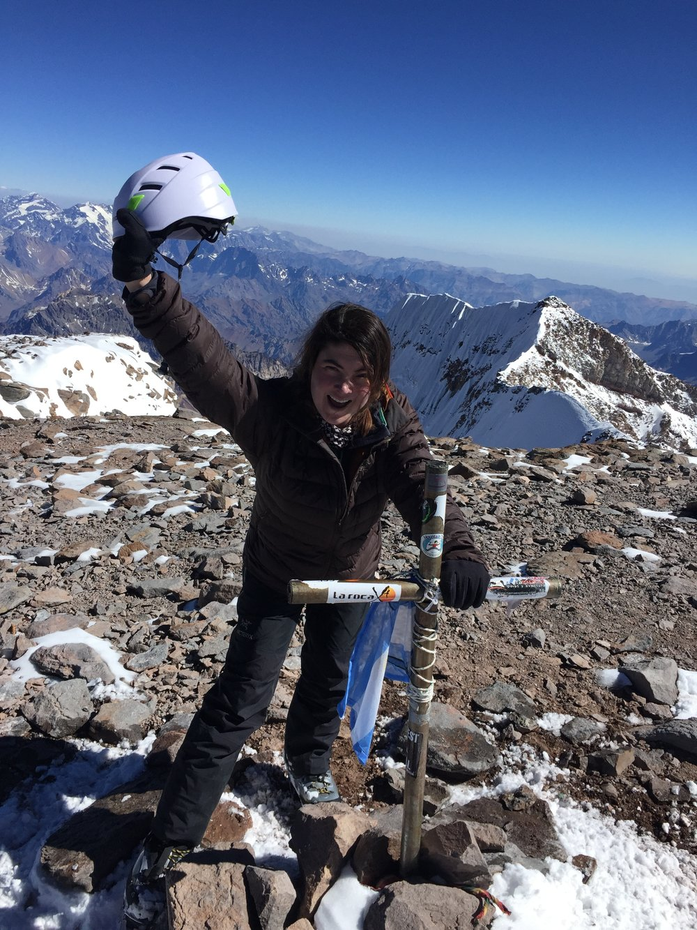 Aconcagua - Location: South America 22,838 ft / 6,961mSummit Date: March 8th, 2016Route: NormalTrip Length: 21 DaysCompany: Mountain Madness and Grajales Expeditions