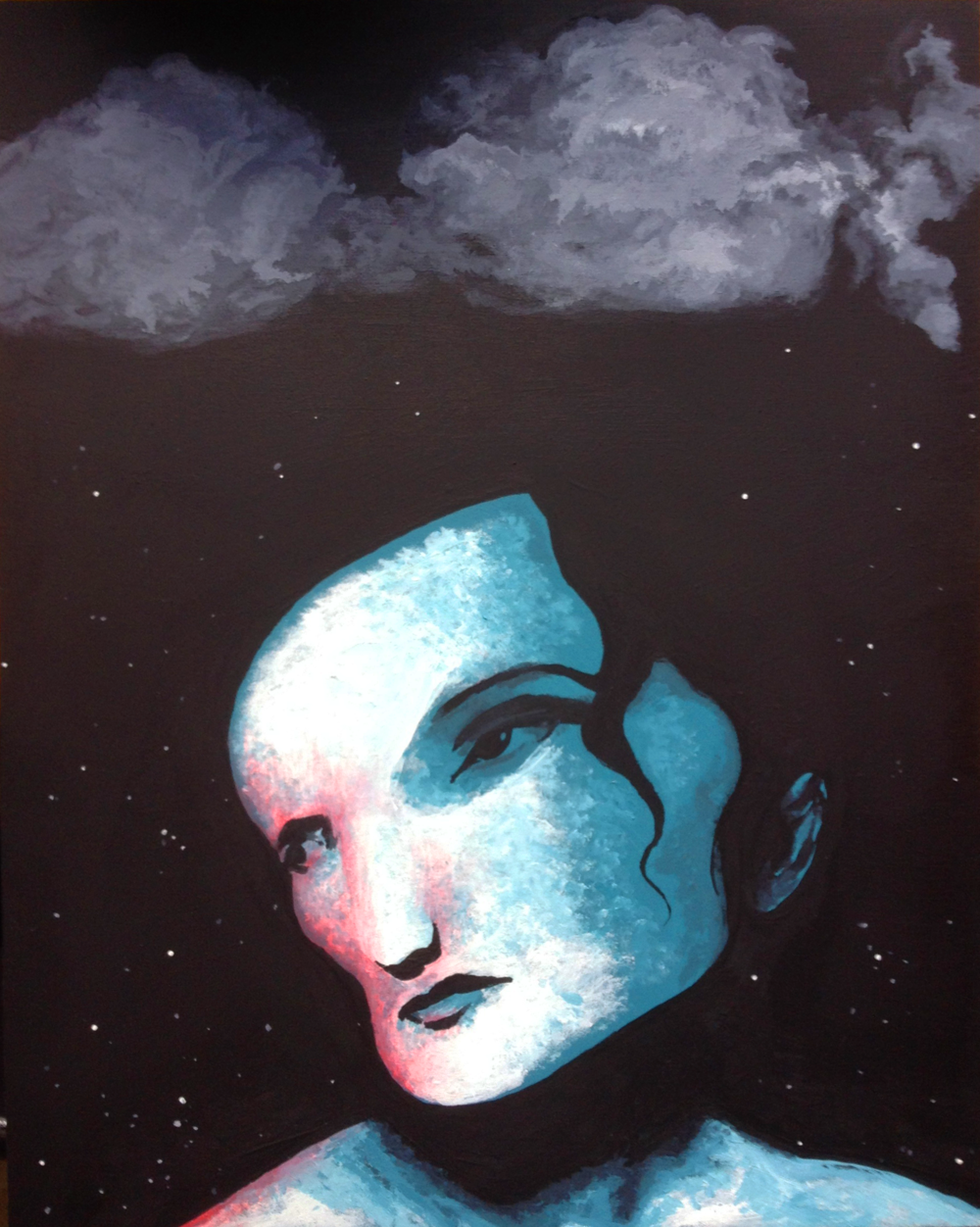 """Woman from the Stars Beneath the Clouds"""
