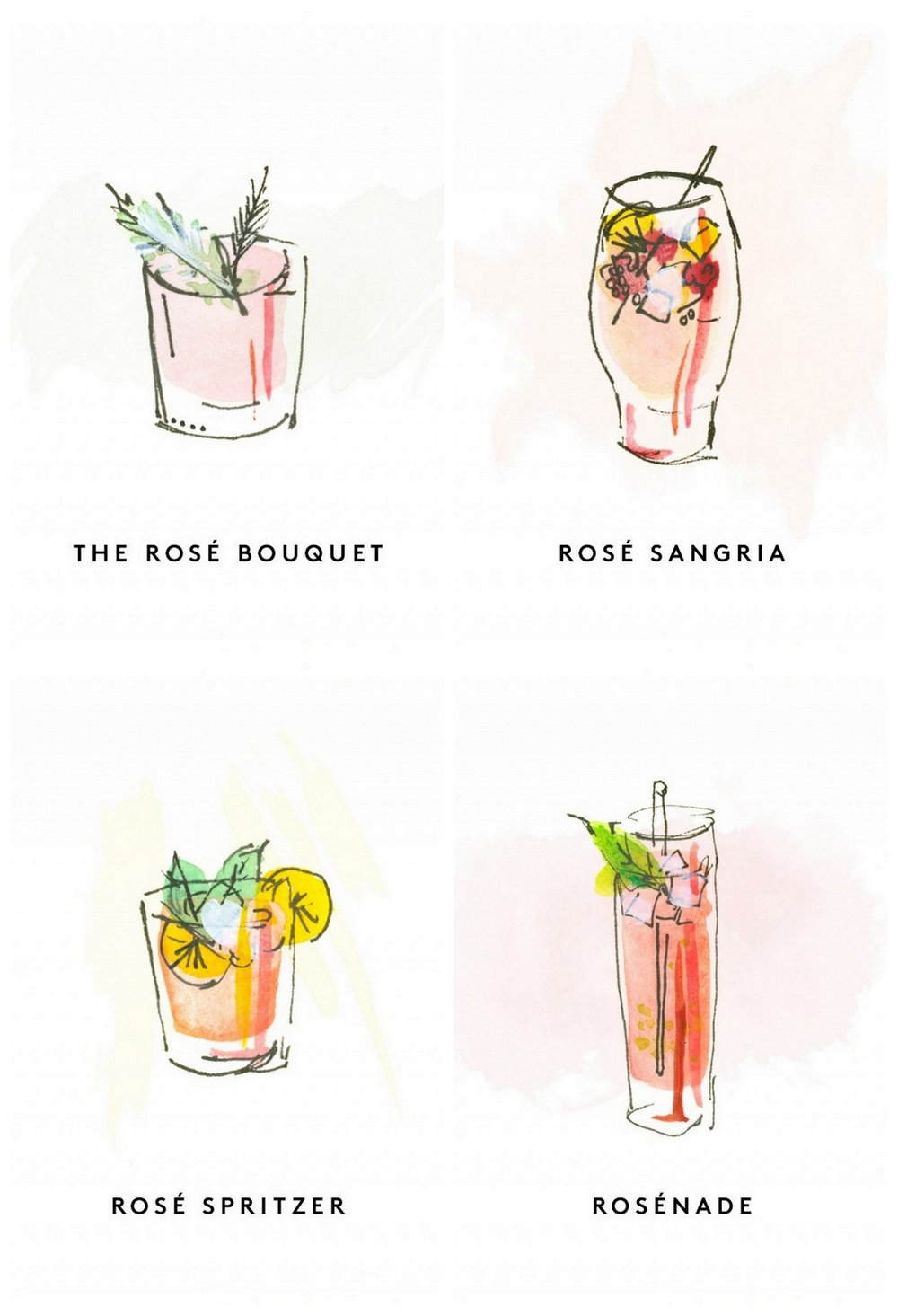 Rosé Cocktails via MyDomaine