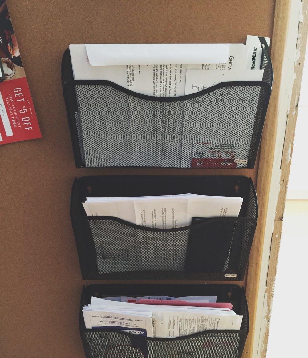 Mail Organization - Command Center | Cassia & Co.