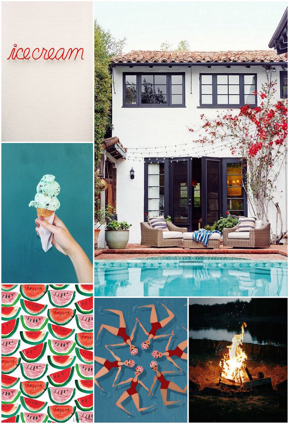 Monthly Moodboard - Quintessential Summer