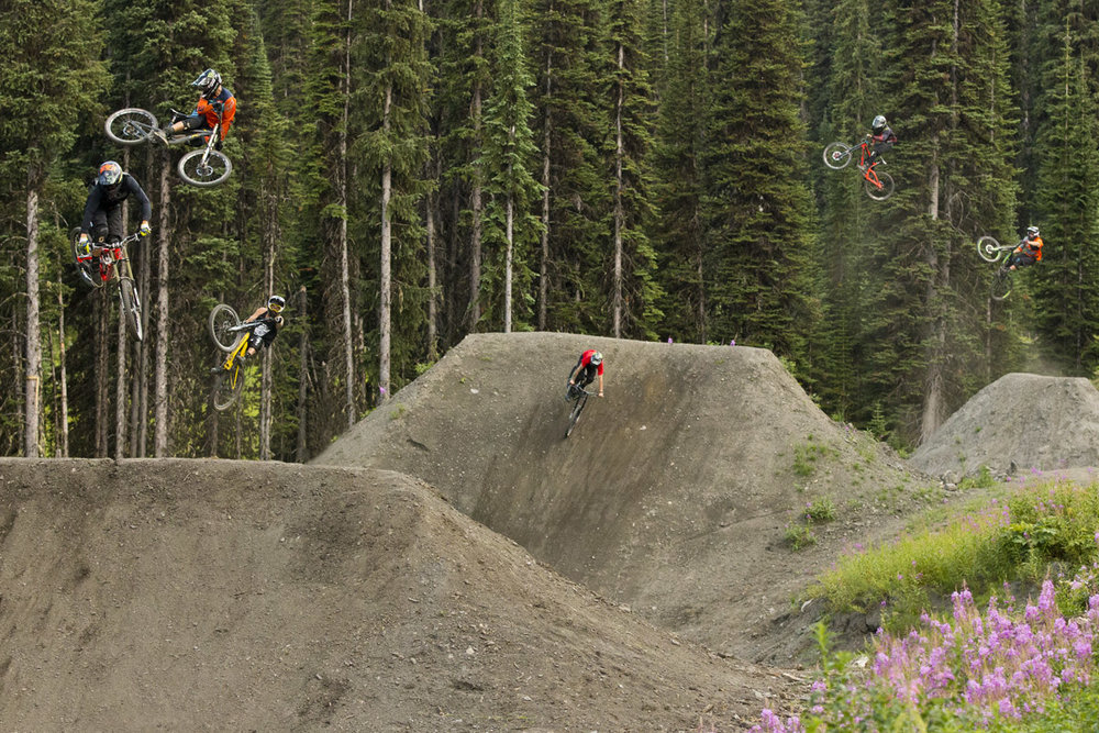 Sam Reynolds leads the Fest Riders Retallack, British Columbia