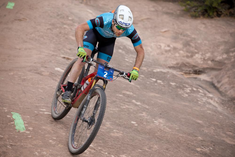 Justin Lindine of Ogden, Utah took 3rd overall at 2018 Moab Rocks.