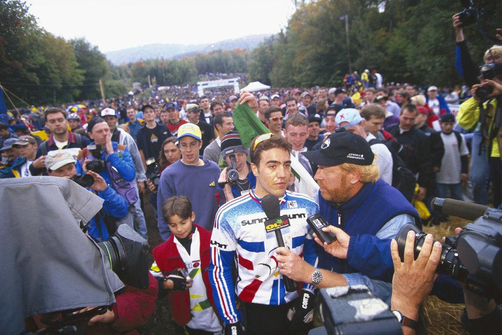 Nicolas Vouilloz wins the 1998 World Championships Mont. Ste. Anne, Quebec