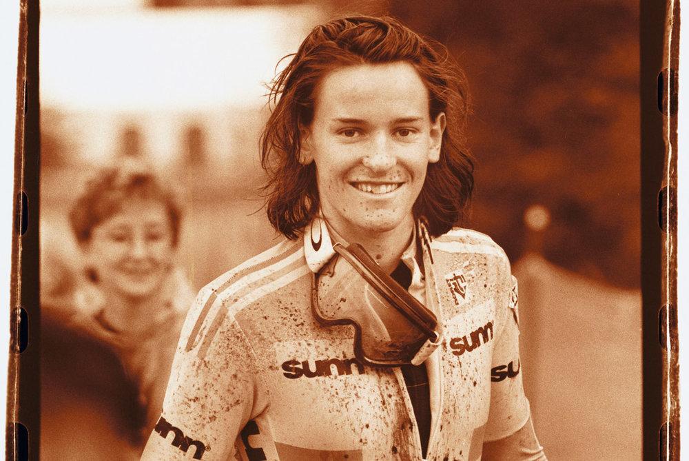 Anne Caroline Chausson wins the 1998 World Championships Mont. Ste. Anne, Quebec