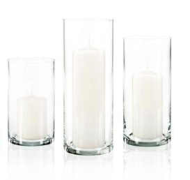Glass Cylinder Vase / #011 / $4