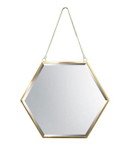 Hexagon Mirror / #027 / $15
