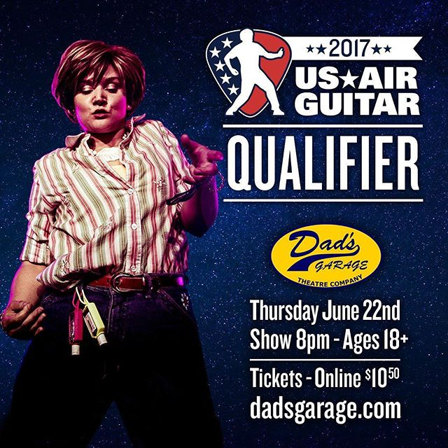 TONIGHT in Atlanta!  Still a couple spots to compete + tickets at the door! Join the fun!  June 22nd | @dadsgarageatl | 8pm . . . #usairguitar #airguitar #competition #americasfavoritepasttime #USA #ATL #atlanta #thingstodoinatlanta