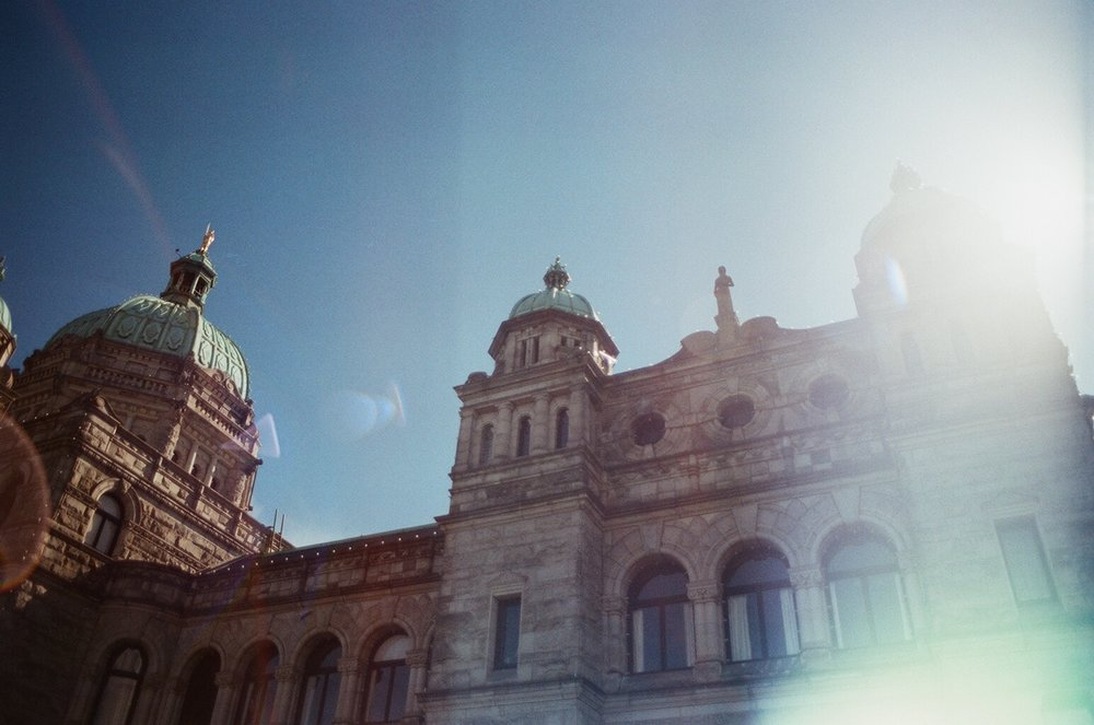BC Parliament Glare