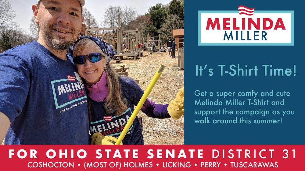 Order Your Melinda for State Senator T-Shirt Today!