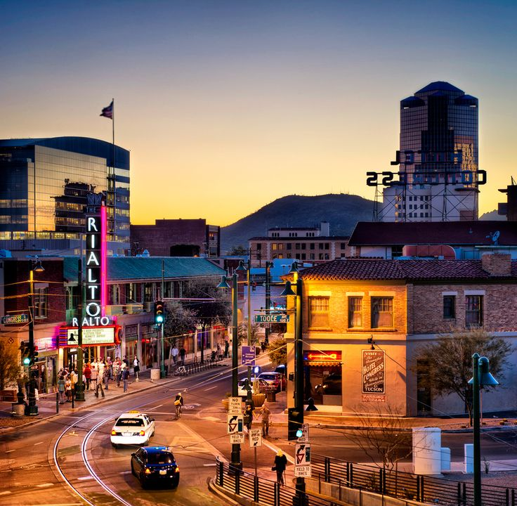 Downtown Tucson Sunset Kilt Transportation