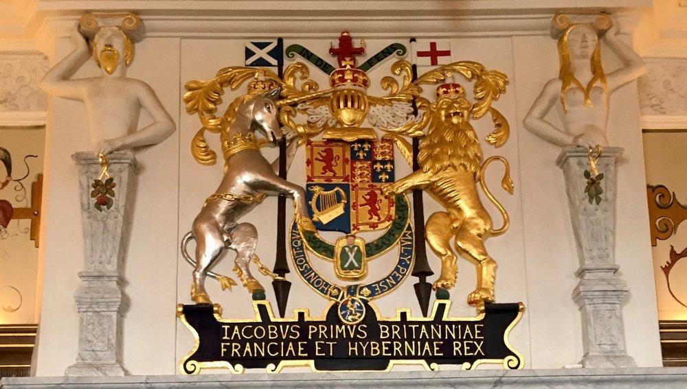 King James I coat of arms at Edinburgh Castle