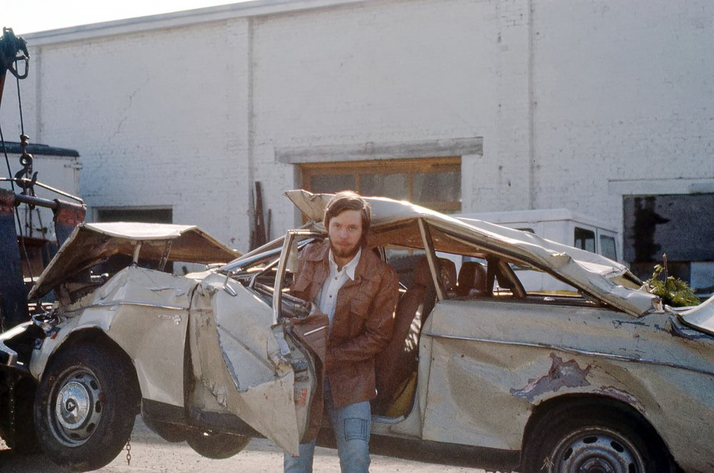 PJ considers whether his 1968 Volvo 142S is a write-off. Note integrity of driver roof support