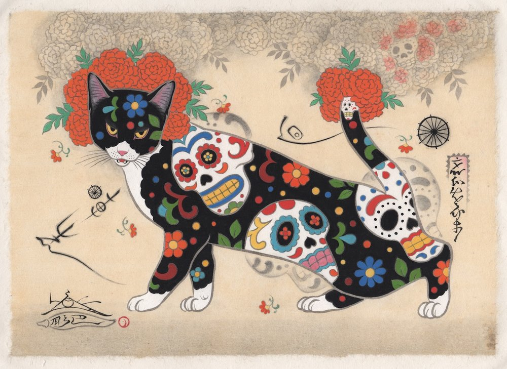 """""""Sugar Skull Cat"""""""