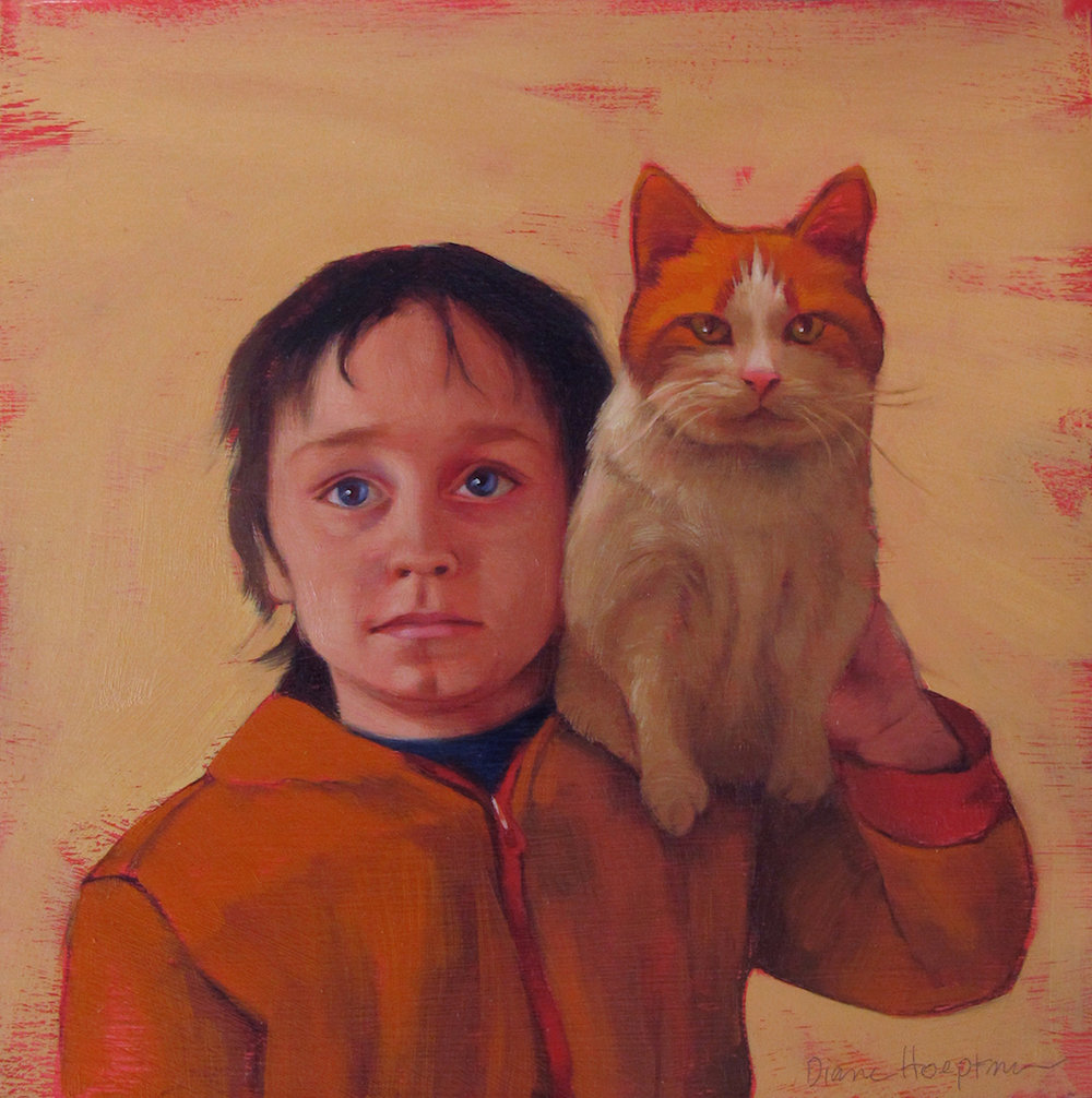 """Boy and Cat 1"""