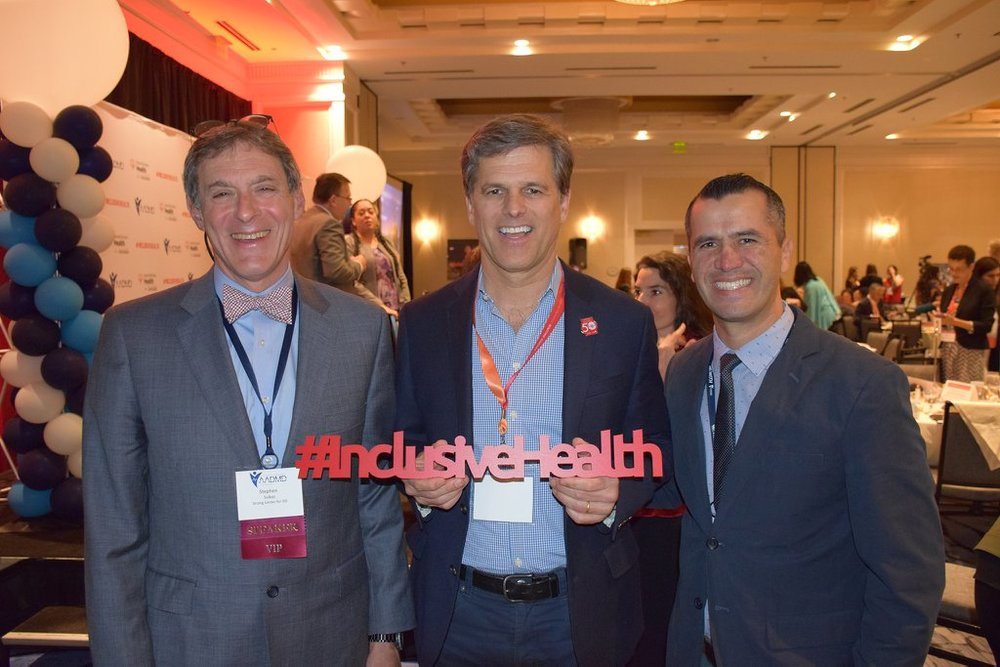 Left to Right: Dr. Steve Sulkes, AADMD President, Tim Shriver, Chairman of Special Olympics International & Dr. Abrahim Caroci, AADMD Board Member