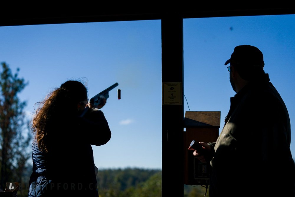 Jackie Chris Engagement Garland Mountaing Sporting Clays HMS Sta