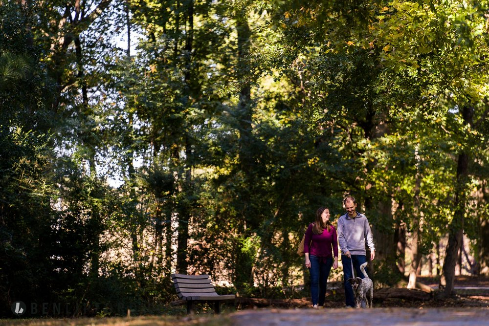 Copy of Kate Wes Engagement Willis Park Dog Alpharetta Georgia