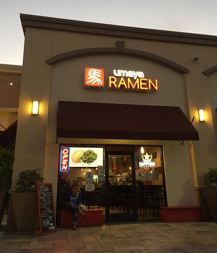 Established in 2013 - Umaya Ramen opened in May of 2012 and is located across from the Los Cerritos Center Mall. Since then, Umaya Ramen has been serving both quality interpretations of classic dishes and daring new ventures into the uncharted territories of food. Soon after, Umaya Lounge opened its doors as a place where visitors can come to relax, catch up with friends, and enjoy the everyday, happy hour drink specials.