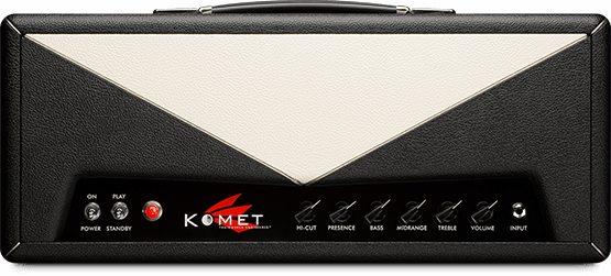 Komet 60   Our first amplifier and our flagship model. Sleek and streamlined. In many ways - the ultimate tonal chameleon. Designed by Ken Fischer in 1999. This multifaceted amplifier has the ability to operate on several different tube types. Each tube selection allows the player to travel into a different tonal universe. Also available in the Komet 60 HD configuration.