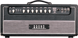 Bruno Super 100   The Bruno Super 100 is an amp that was built because of the constant demand from loyal Bruno clients. Channel switching amp with rich warm clean tones and creamy smooth overdrive.
