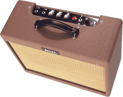 Bruno Tweedy Pie 18   The Tweedy Pie 18 is a superb small amp with the all of the tone Bruno's are famous for. Tony has massaged and refined the 6V6 tweed sound and feel to near perfection.