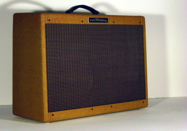 Victoria 80212   Our rendition of the late '50s 80 watt Twin is a serious amplifier for those who wish their presence on stage to be not only heard, but also felt.
