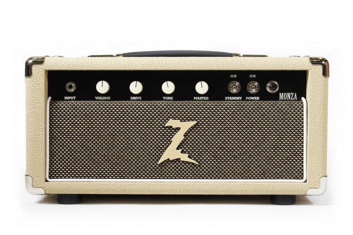 "Dr.Z Monza   ""Chords ring strong while single notes rise and bloom. It's like harnessing the power and response of a 100 watt stack without clearing the first 20 rows."" – Dr. Z"