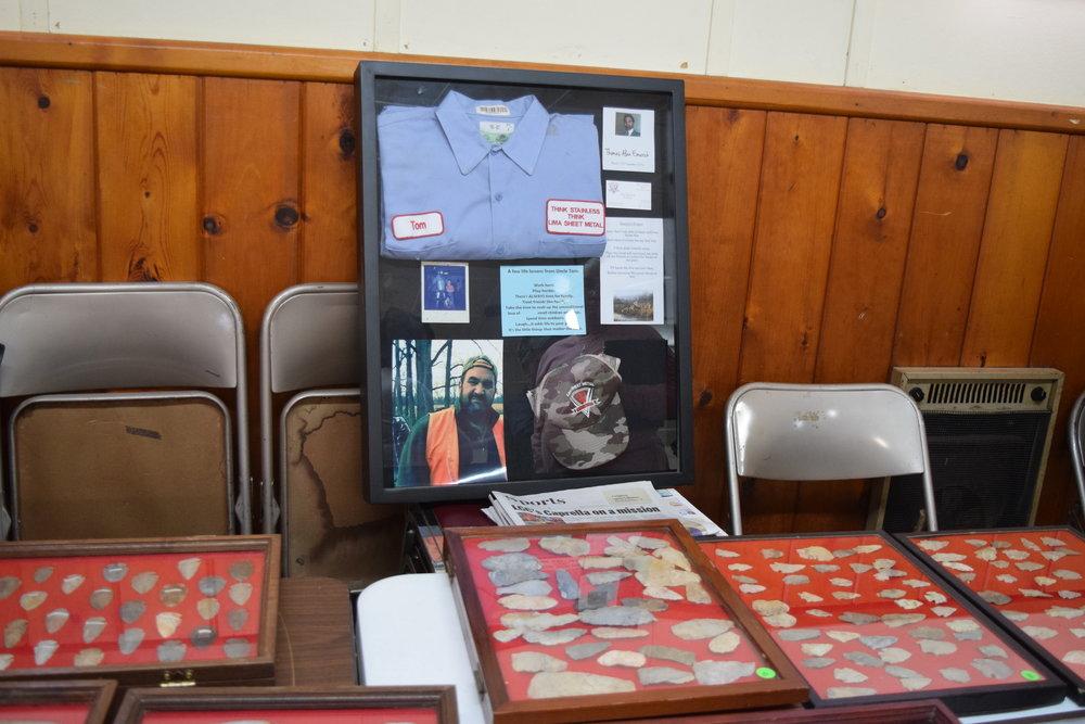 Memorial display for Tom Emerick.