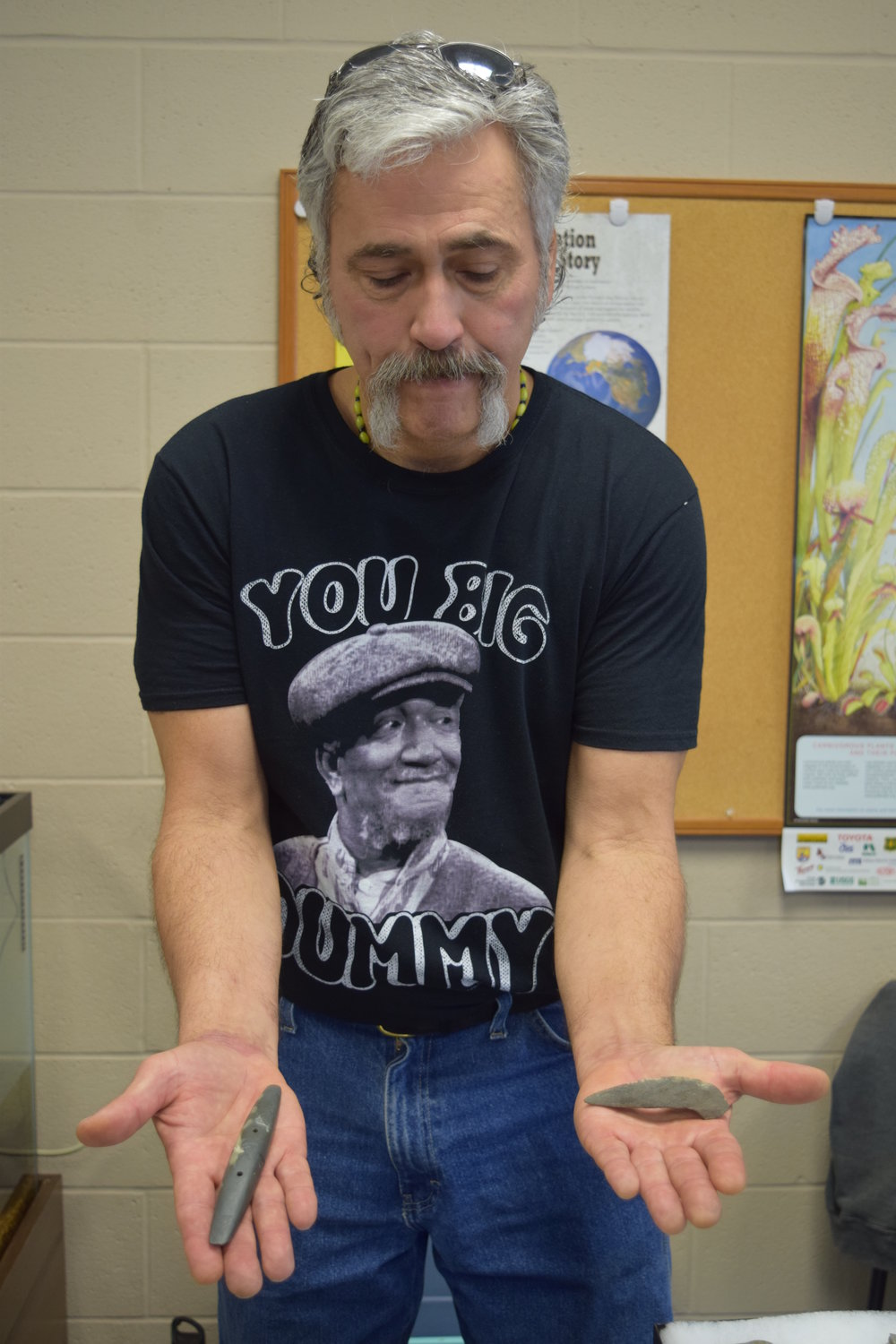 Eric Rothhaar displaying some of his finds.