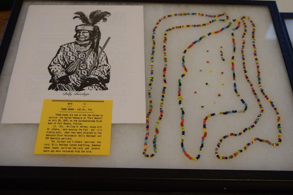 Indian trade beads.